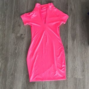 Neon Pink Fit Dress